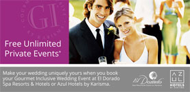 El Dorado Resorts Wedding Promo